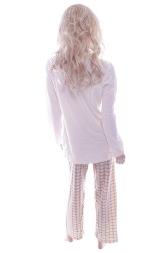 Pijama para mujer wait, a cuadros blanco