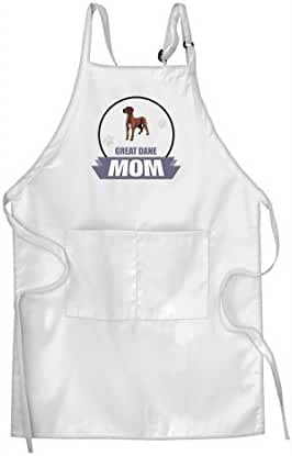 GREAT DANE DOG MOM Adjustable Bib Kitchen Apron