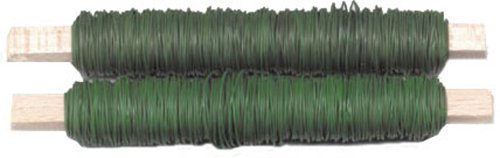 DR.SEVERIN 3018230 Blumendraht grün 100 g SB 2 Stück auf Holzspule