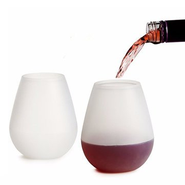 Tle - Bar Tools & Accessories - Silicone Wine Cups Foldable Beer Glasses Unbreakable Glasses Non Slip Stoup Specs Spectacles Gaucherie Gaucherie Silicone - - Spectacles Unbreakable