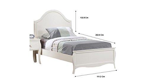 Coaster Fine Furniture 400561T Cama Individual de Madera Dominique, color Blanco