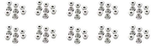 Traxxas  3647 Flanged Nylon Lock Nuts, 4mm (10)