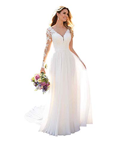See the TOP 10 Best<br>Sleeved Wedding Dresses Lace