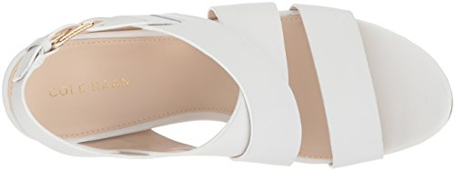 Cole Haan Mujeres Penélope Ii Wedge Sandal Optic White Leather