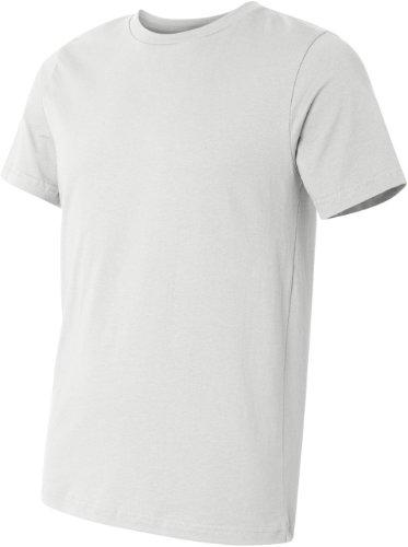 Bella + Canvas Unisex Kurze Ärmel hergestellt in den USA Crewneck T-Shirt–Athletic Heather Small Weiß - weiß
