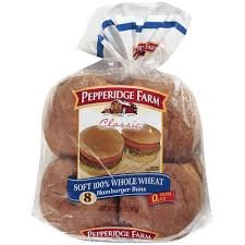 (Pepperidge Farm Hamburger Buns - Soft 100% Whole Wheat-2pack)