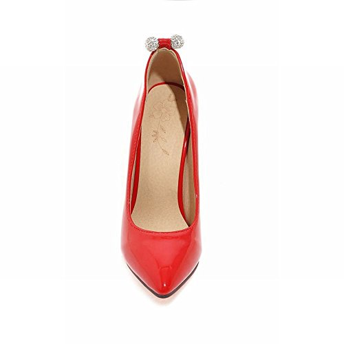 Carolbar Women's Candy Color Elegant High Heel Stiletto Court Shoes Red DB2qfH