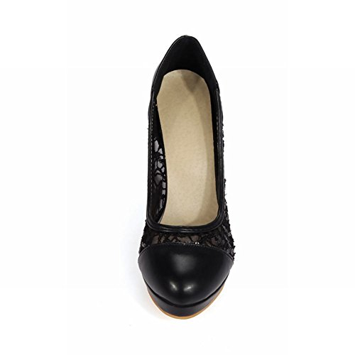 Womens Pumps Black High Summer Latasa Heel Fashion Dress Casual Spring q6vdT7w