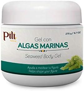 PILI Seaweed Body Gel. Cold Slimming Gel for Women & Men. Body Fat Burning Massages Gel with Seaweed, Menthol and Camphor. Helps to Burn Fat. Gel de Algas Marinas quema grasa Abdominal. 9.7 oz