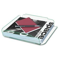 Lorell LLR80654 Single Stack Letter Tray, 10 in. x 13.25 in. x 2.5 in., CL-GN Acrylic