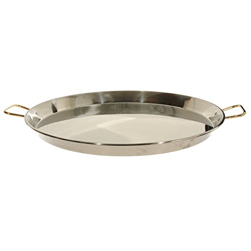 Garcima 28-Inch Stainless Steel Paella Pan, 70cm by La Paella