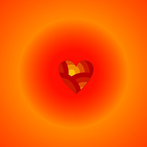 Home Comforts LAMINATED POSTER Orange Heart 3 Illustrations Poster Print 24 x 36 by Home Comforts