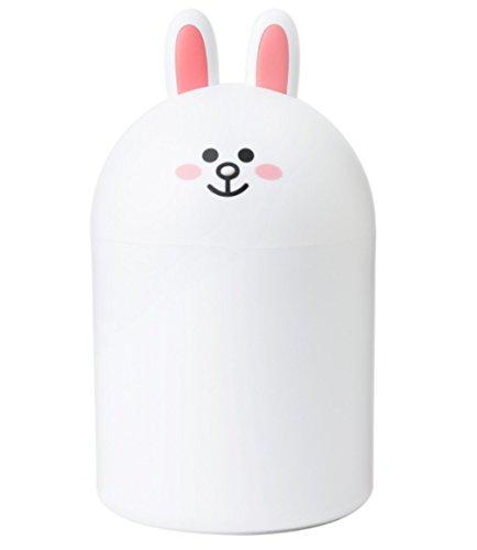 LINE FRIENDS Cony Mini Rubbish Bin 25cm One Size White