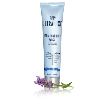 ULTRALUXE SKIN CARE Wash new (paraben Free), Mud Lavender, 4.0 Ounce