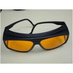 Amazon.com: Noir anteojos de sol naranja Marco de escudo de ...