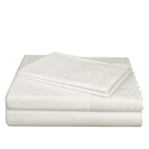AURAA Smart 1400 Thread Count Cotton Rich, 4 Piece Sheet Set, Queen Sheets, 16
