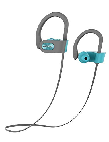 Mpow D4 [Updated] Bluetooth Headphones, IPX7 Waterproof Wireless Sports Earphones w/Mic, HD Sound Secure Fit Lightweight Earbuds for Running, Jogging, Cycling, 8 Hour Playtime Noise Cancelling Headset