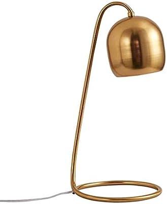 BEANDENG Mesita de noche de hierro simple Lámpara de escritorio ...
