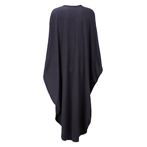 17e15abb3dad Kafiloe Womens Sexy Batwing Sleeve Cape Deep V Neck Party Bodycon Short Mini  Dress Clubwear Plus