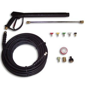 MTM Hydro Deluxe Pressure Washer Spray Gun, Wand, 50' Hose & Tips 4000PSI Fits Hotsy