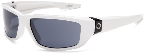 Spy Optic Dirty Mo Sunglasses,Shiny White Frame/Grey Lens,one size