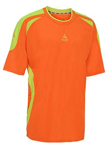 Select Sport America Ohio Short Sleeve Goalkeeper Jersey, Orange/Yellow, Youth Large (Short Sleeve Goalie Jersey)