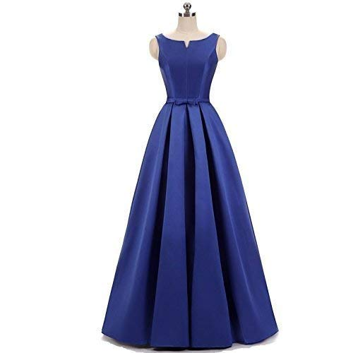 Woman's Satin Bridesmaid Dresses Formal Evening Gowns Floor Length
