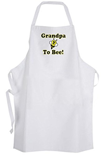 Grandpa To Bee! Adult Size Apron - Cute Funny Humor New Baby Wedding by Aprons365