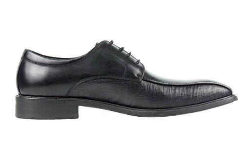 Asher Green Mens Nero In Pelle Di Vitello Spazzolato Pista Ciclabile Lace Up Oxford Dress Shoe: Style Jackson-000