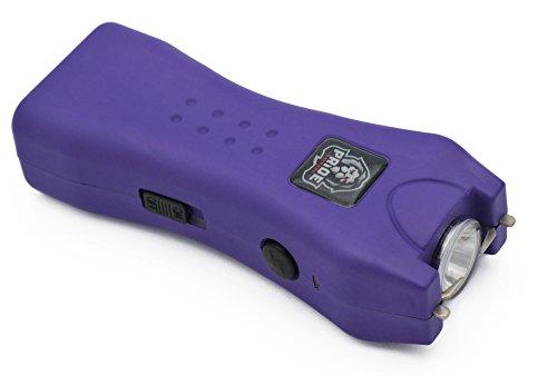 Pride Defense Mini Tactical Stun Gun - Police Grade Strength Rechargeable Stun Gun - W/Nylon Holster Easy Carry (Purple) -
