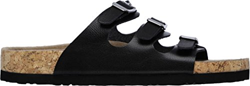 Skechers Donna Relaxed Fit Granola Nature Slide Slide, Nero
