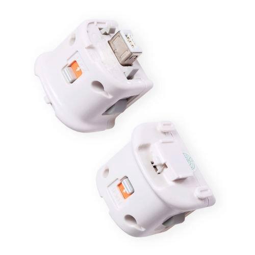 SODIAL(R) 2x Motion Plus Adapter Sensor fr Nintendo Wii Remote Controller White