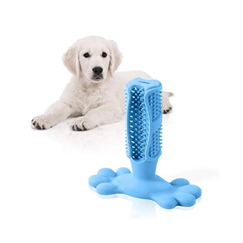 vetmate Upgraded Dog Toothbrush Stick |Puppy Dental Care Oral Brushing Stick| Natural Rubber Bite Resistant Chew Toys…