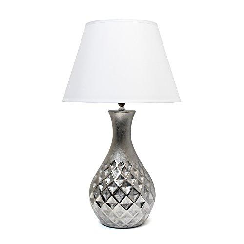 Elegant Designs LT2041-MSV Juliet Ceramic Table Lamp with Me