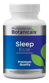 Professional Botanicals Sleep Eaze - Natural Sleep Aid, with Valerian Root, Passion Flower and Chamomile Non-Habit Forming Sleeping Supplement - l60 Capsules