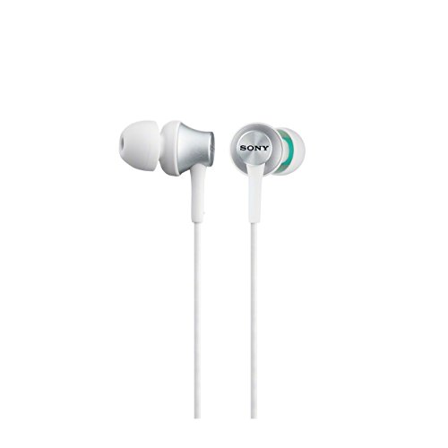 Sony MDR-EX450-W Earphones with Aluminium Housing - White by Sony
