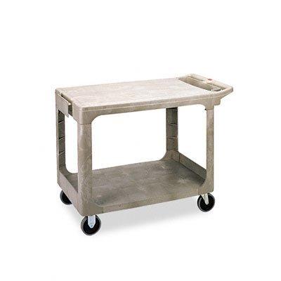 Rubbermaid Commercial 452500BG Flat Shelf Utility Cart, Two-Shelf, 25-1/4w x 44d x 38-1/8h, Beige