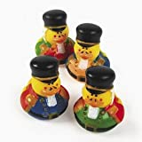 : One Dozen (12) NUTCRACKER Rubber Duck Party Favors
