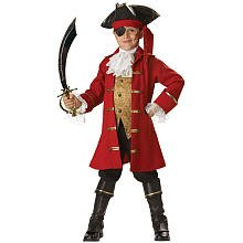 NEW Kids Pirate Captain Hook Boys Halloween Costume 8 Boys Large (fits size 8) by InCharacter