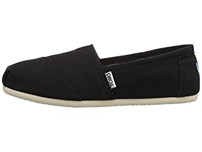 Toms Women's Classic Canvas (BLACK) Slip-on Shoe
