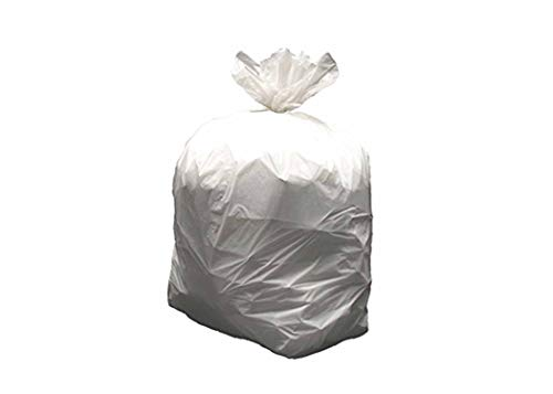 Resilia 33 Gallon Heavy-Duty Trash Bags - White 100 Bags/Roll, 1.2 Mil Thick, 33x40 inches (WxH), Wire Ties Included, MADE IN USA