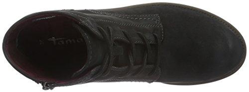 Tamaris 25235, Botines para Mujer Negro (BLACK NUBUC 008)