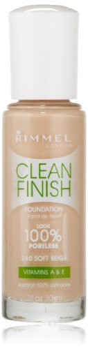 Rimmel Clean Finish Foundation, Soft Beige, 1 Ounce