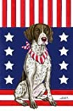 German Shorthair Pointer - by Tomoyo Pitcher, Patriotic Themed Dog Breed Flags 12 x 18