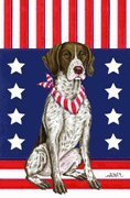Cheap German Shorthair Pointer – by Tomoyo Pitcher, Patriotic Themed Dog Breed Flags 12 x 18