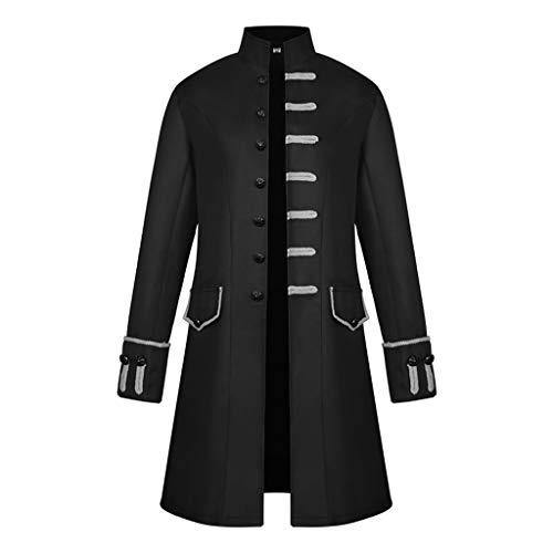 non-brand Baoblaze Chaqueta De Hombres Victoriano Levita Gótica Steampunk Vintage Suave Cómoda Elegante Sensación - Negro,...