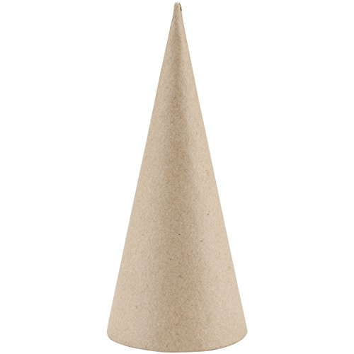 Garden Paper Mache (Paper Mache Open Bottom Cone - 7 x 3 inches)
