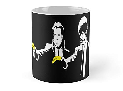 Army Mug Banksy Pulp Fiction - 11oz Mug - Features wraparound prints - Dishwasher safe - Made from Ceramic - Best gift for family friends ()