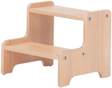 Taburete de madera maciza, taburete de dos escalones Banco para niños Silla de trabajo para exteriores e interiores Escalera de escalada, torre de pie para niños pequeños para ayudante de cocina: Amazon.es: