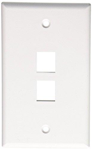 (Leviton 41080-2WP Quickport Wallplate, 2-Port; White (10))